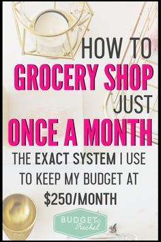 How to Grocery Shop Once a Month – Finance tips, saving money, budgeting planner Save Money On Groceries, Ways To Save Money, Money Tips, Money Saving Tips, Groceries Budget, Living On A Budget, Frugal Living Tips, Frugal Tips, Debt Free Living