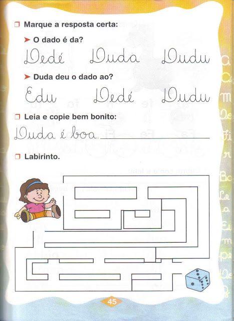 Fichas De Atividades Silabas Simples Da De Di Do Du Com Imagens