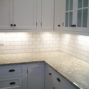 Anyone Use Lowes White Subway Tile For Bs Pics Kitchen Backsplash