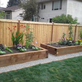 Raised Beds Cedar Fence Yelp Small Backyard Landscaping Garden Landscaping Diy Backyard Landscaping Designs