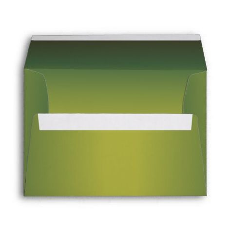 elegant metallic green 5 x 7 invitation envelope cute wedding