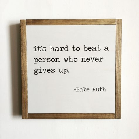 SPORT QUOTE - BABE RUTH