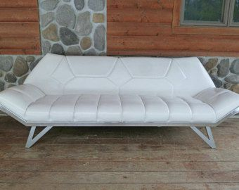 1960s Gondola Sofa Handcrafted Of White Vinyl And Chrome Adrian Pearsall Inspired Mid Century Modern D Mid Century Modern Mid Century Modern Design Love Seat