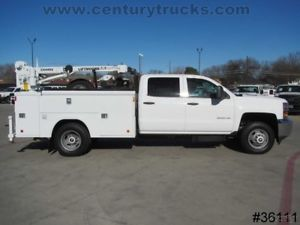 Chevy 3500 Drw Crew Cab Service Body Utility Bed Work Truck Liftmoore 3200 Crane Work Truck Crew Cab Utility Bed