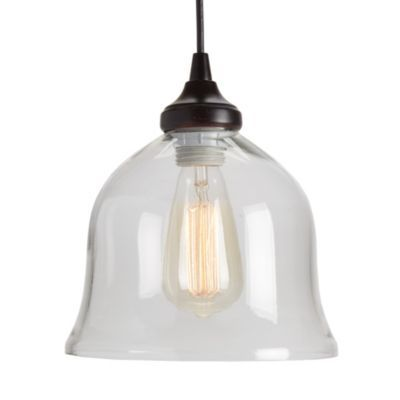 Can Light Adapter Glass Bell Pendant With Images Single Pendant Lighting Pendant Light Kit Can Lights