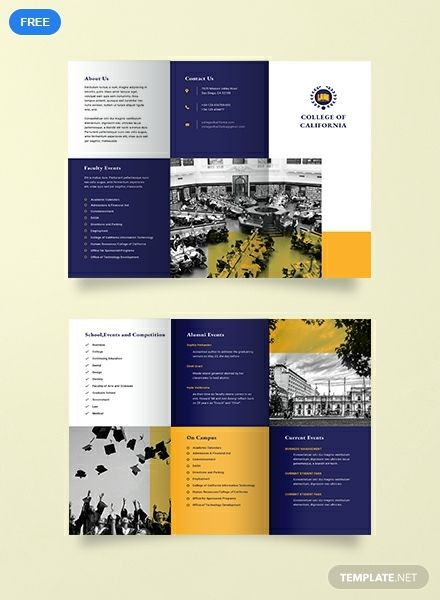 Free College Event Brochure Template Word Doc Psd Indesign Apple Mac Pages Illustrator Publisher College Brochure Event Brochure College Event