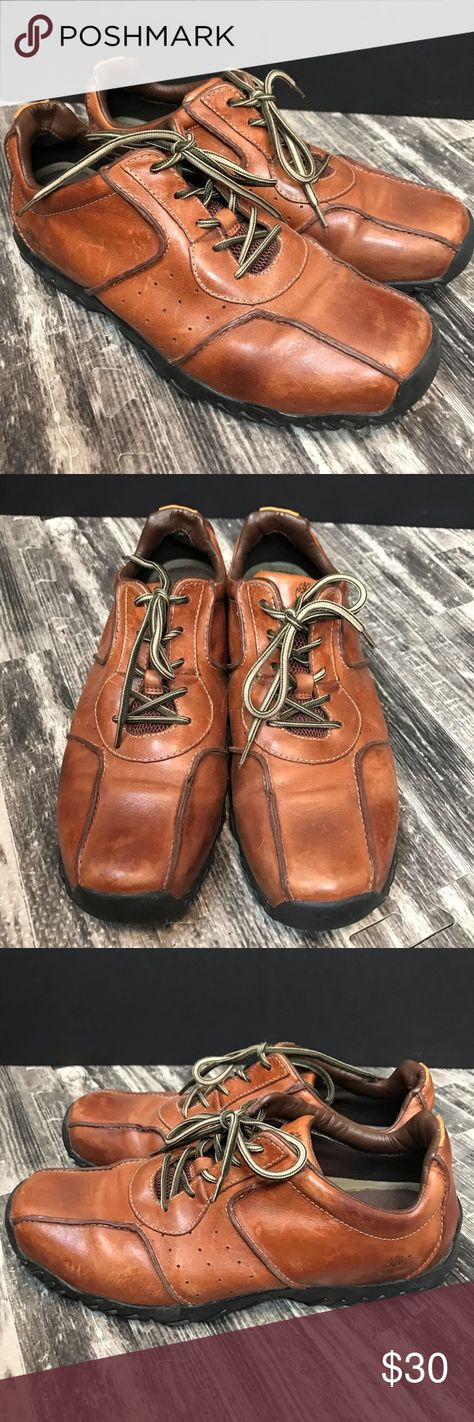 Timberland Brown Leather Lace Up Shoes Men's EUC Timberland Brown Leather Lace Up Shoes Men's EUC  Please feel free to ask me any questions.  Thanks so much for looking!! Timberland Shoes Oxfords & Derbys