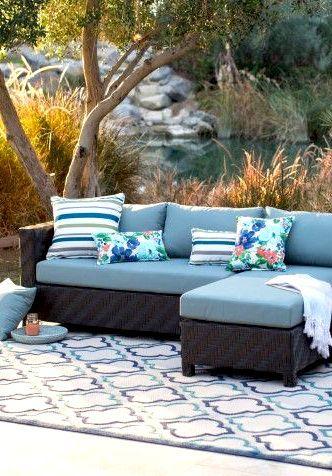 Outdoor Sectional Wicker Sofa Garden Furniture Idea Affiliate
