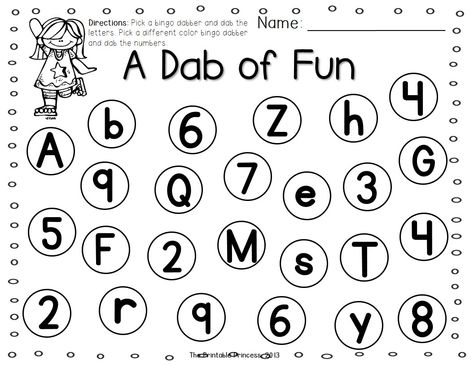 A Dab of Learning {Bingo Dabber Alphabet & Number