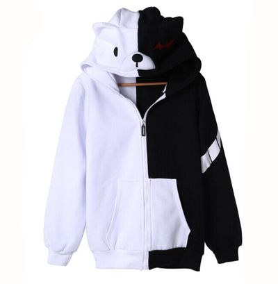 New projectile on black and white bear funny hoodie · Harajuku fashion · Online Store Powered by Storenvy