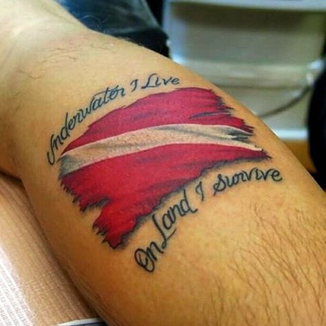 Made this a year and half ago...I still look at it everyday at the mirror! Thanks again @kockotattoos #scubadiving #scuba #diving #underwater #ocean #sea #tattoo #dive #flag #underwater #life #livinglife #instructor #padi #colors #feel #feelings #travel #world #passion #love #lifechange #relax #dominicanrepublic #republicadominicana #puntacana by diveandtravelwithivo