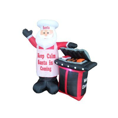 The Holiday Aisle BBQ Santa Claus Christmas Decoration