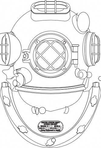 Diving Helmet Clip Art Scubadivingequipmentgears With Images