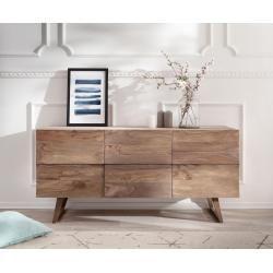 Delife Design Sideboard Wyatt 150 Cm Sheesham Natur 2 Turen