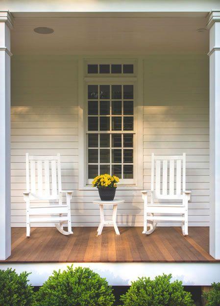 Farmhouse Style Porch Decor Ideas Pickled Barrel Rocking Chair Porch Porch Decorating Porch Chairs