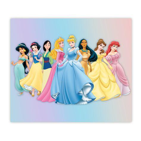Disney Princesses Cinderella Sleeping Beauty Mulan Pocahontas Snow White Belle Jasmine Ariel Sublimation 20oz Skinny Drink Tumbler