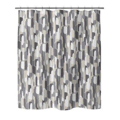 Ivy Bronx Jaclynn Single Shower Curtain Gray Shower Curtains