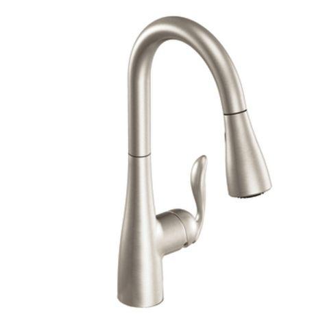 kitchen faucet moen arbor 7594rs stainless cull residence rh pinterest fr