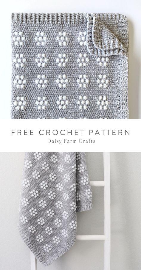 Crochet Flower Patterns, Crochet Blanket Patterns, Baby Blanket Crochet, Crochet Flowers, Crochet Stitches, Knitting Patterns, Crocheted Baby Blankets, Crochet Baby Blanket Free Pattern, Crochet Afghans