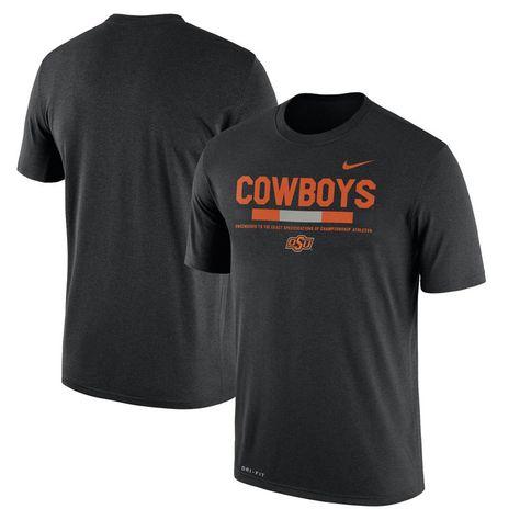 61aac28957bccd Oklahoma State Cowboys Nike 2017 Staff Legend Dri-FIT Performance T-Shirt -  Black
