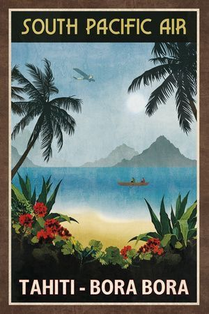 Maldives Vintage-Style Travel Poster Postcard Clear Blue Paradise Mult Sizes