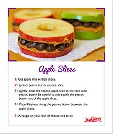 #Raisinets Crafts These are going in my daughter's lunch! I may put a little lemon juics on the apples so they don't brown. Fruit and snack in one!