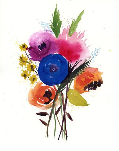 Original Watercolor Painting Floral Painting Fine Art Nature