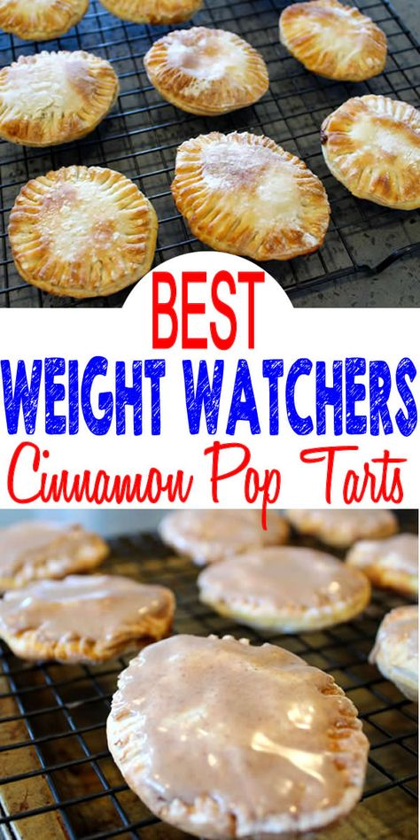 Weight Watchers Cinnamon Pop Tarts - BEST 2 Ingredient Air Fryer WW Recipe - Breakfast - Treat - Snack with Smart Points - Weight Watchers Air Fryer Recipes! BEST Weight Watchers pop tarts that are easy & simple to make! Weight Watchers Desserts, Weight Watchers Breakfast, Weight Watchers Diet, Ww Desserts, Dessert Recipes, Air Fryer Recipes Weight Watchers, Ww Recipes, Easter Recipes, Birthday Recipes