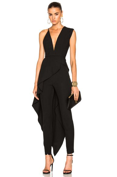 Shop for Michelle Mason Asymmetrical Plunge Cascade Top in Black at FWRD. Free 2 day shipping and returns.