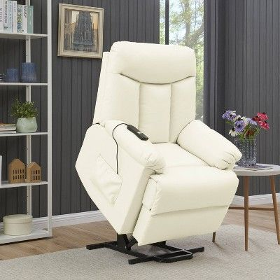 Prolounger Renu Wall Hugger Power Lift Reclining Chair Cream