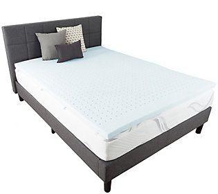 Bluestone Gel Infused 2 King Memory Foam Mattress Topper Qvc Com Mattress Foam Mattress Topper Adjustable Beds Full xl memory foam mattress