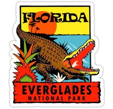 FL-01 Florida Sunshine Alligator Orange State Vinyl Decal Sticker