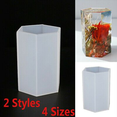 Mould Jewelry Resin  Craft Silicone Cylinder Casting Mold Hexagon Making Epoxy