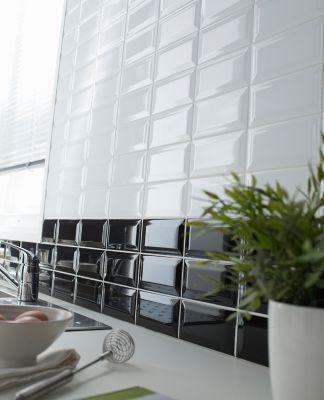 Carrelage Mur Blanc 10 X 20 Cm Trentie Vendu Au Carton Carreaux Muraux Parement Mural Et Carrelage