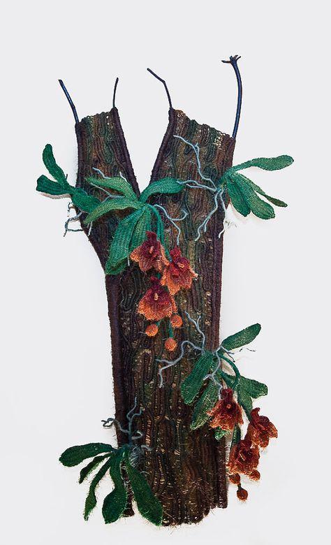 Macrame Wall Hanging 'Orchid Tree'  Handmade by @Macrame Art
