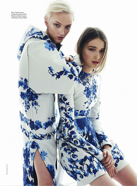 April Tiplady & Maddison Brown shot by Nicole Bentley for Vogue Australia, October 2013.