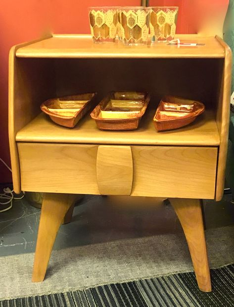 heywood wakefield mid century kohinoor night stand by artifactsrevival on etsy