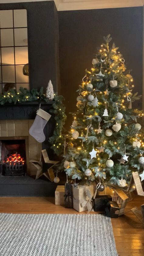 Christmas tree styling using the New Neutral Noir Christmas collection from Cox & Cox.
