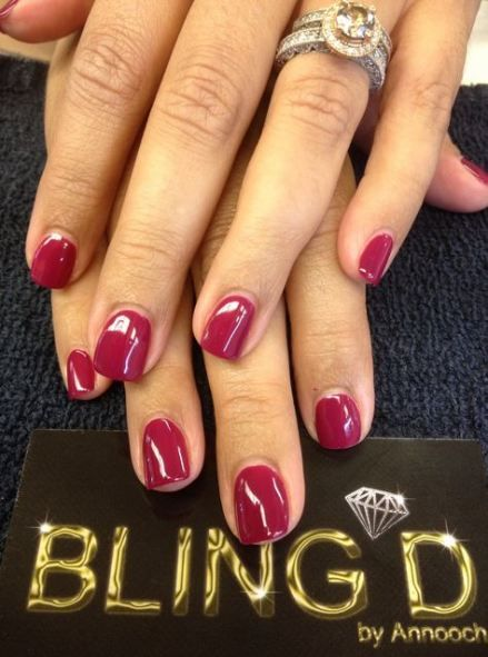42+ ideas for nails red shellac colour
