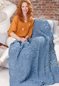 The Sky Blue Lace Crochet Pattern is just stunning. This is a free crochet afghan pattern I want in every color.