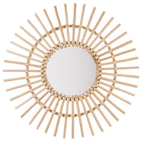 Miroir Soleil Rotin D 58cm Avec Images Miroir En Rotin Miroir Soleil En Rotin Miroir Soleil