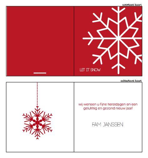 #kerstkaarten, #kerstkaartje, #Modern #kerst #kaart #christmas #ontwerpen #zelfontwerpen #sneeuwvlok #rood #wit #eenvoud #letitsnow #xmas