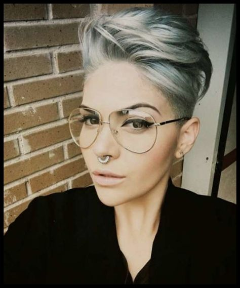 List Of Pinterest Kurzhaarfrisuren Damen Blond Brille Ideas