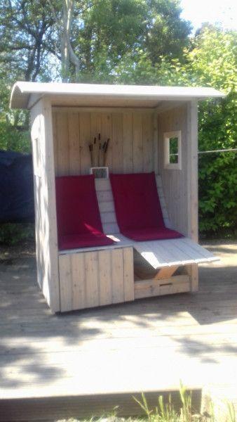 Mann Geschenkidee Strandkorb Auf Rollen Garten Auf Ecke Garten Geschenkideen Garden Nook Yard Furniture Diy Patio