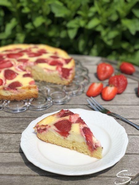 Erdbeer Schmand Kuchen Rezept Erdbeer Schmand Kuchen Kuchen Kuchen Und Torten