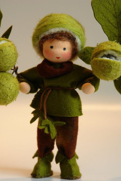 Christmas holiday gift Waldorf inspired doll Steiner doll 15 inch