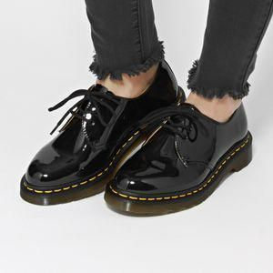 Dr Martens 1461 Patent Lamper Shoes Black Free Delivery Options Docmartensoutfits Looks Chiques Sapatos Looks