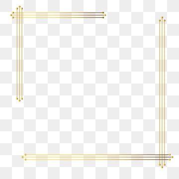 Fashion Avant Garde Lines Gold Border Avant Garde Border Lines Png And Vector With Transparent Background For Free Download Frame Border Design Flame Art Frame Clipart