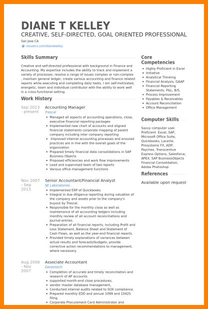 8 Curriculum Vitae For Accountant Mail Clerked Doc Pinterest