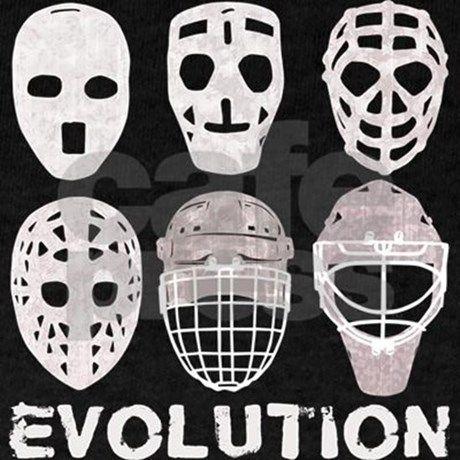 Hockey Goalie Mask Evolution Dark T Shirt Hockey Goalie Mask Evolution T Shirt By Brando Cafepress Goalie Mask Hockey Goalie Goalie